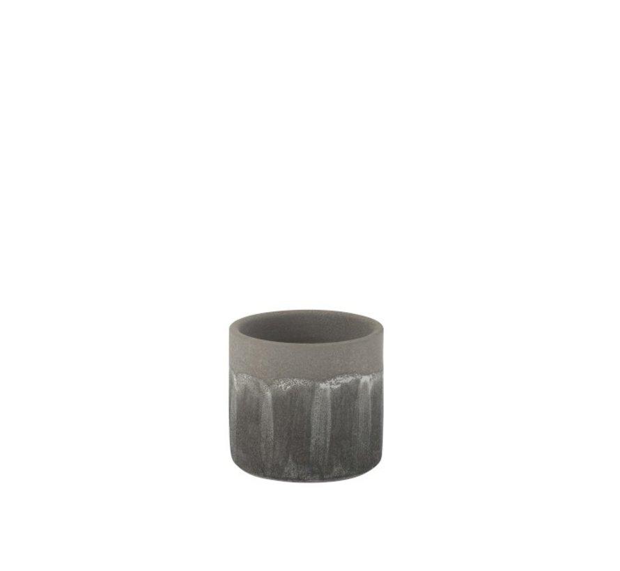 Flowerpot Rustic Tough Uneven Gray - Small