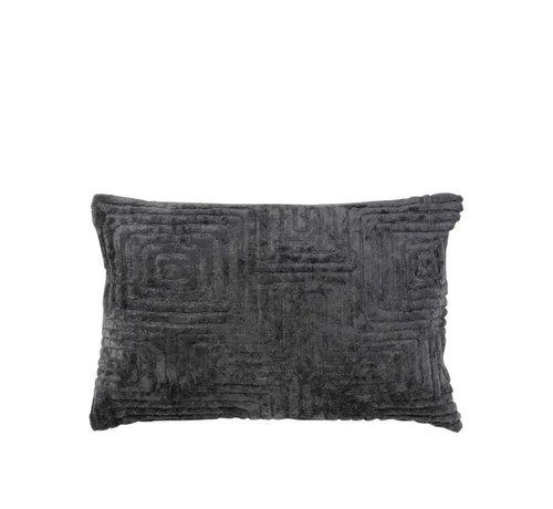 J -Line Cushion Rectangle Maze Rayon - Dark Gray