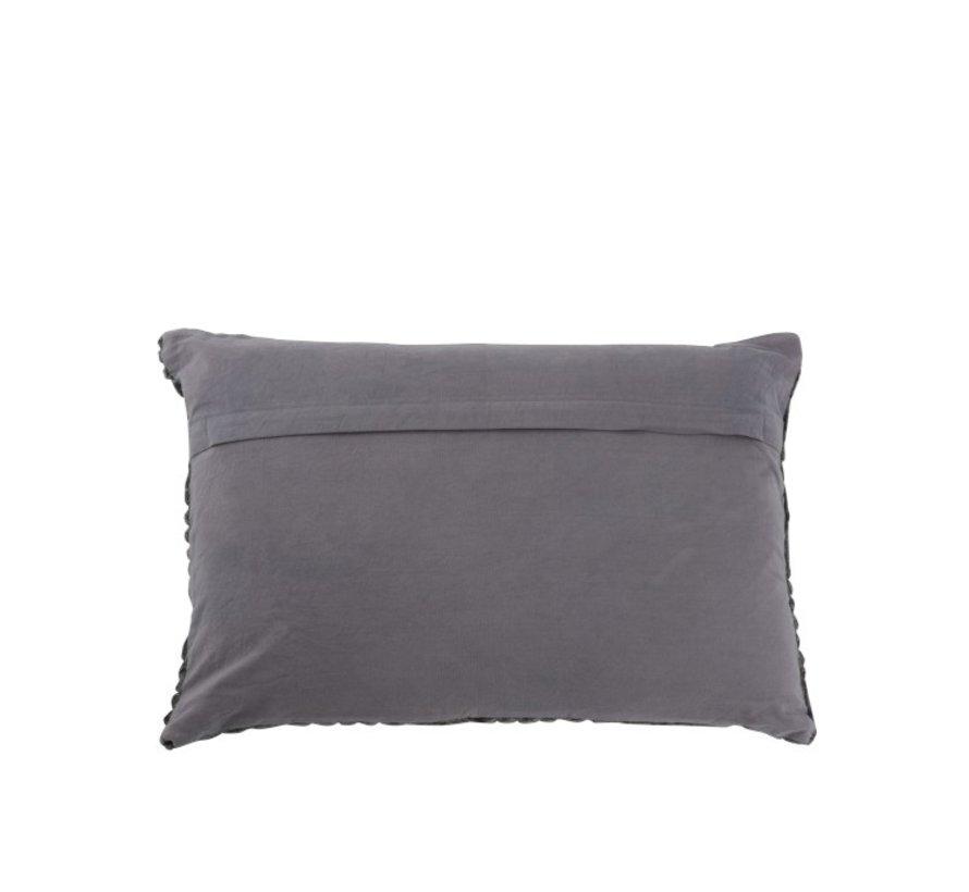 Cushion Rectangle Maze Rayon - Dark Gray