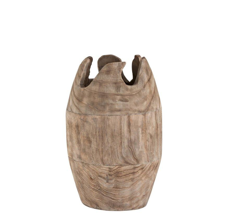 Vaas Landelijk Design Hout Naturel - Bruin