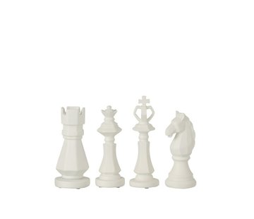 J -Line Decoration Chess pieces Poly White - Small
