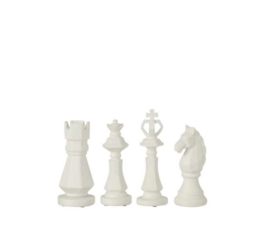 Decoration Chess pieces Poly White - Small