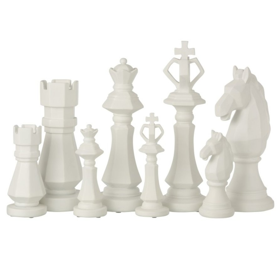 Decoration Chess pieces Poly White - Large