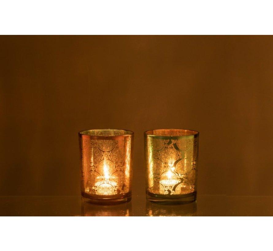 Tealight Holders Oriental Azure Copper - Medium