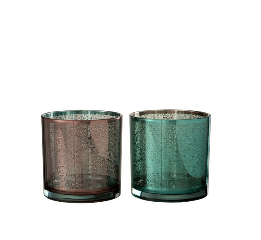 Tealight holders Oriental Azure Copper - Large