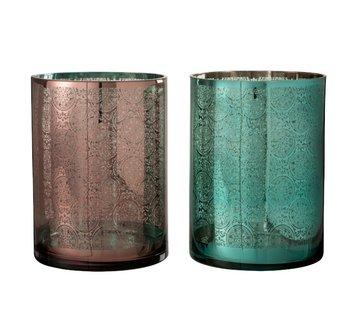 J -Line Tealight Holders Oriental Azure Copper - Extra Large