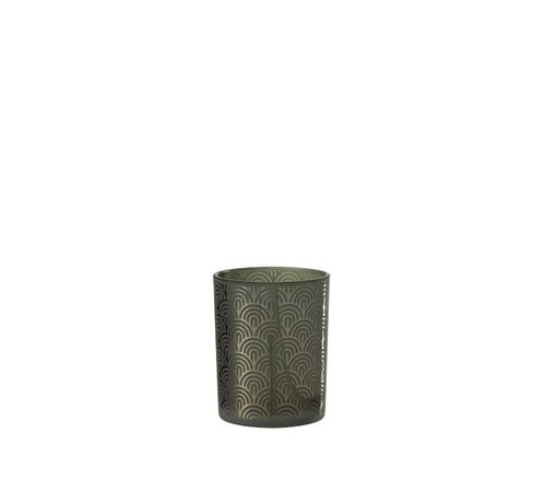 J-Line Tealight holder Glass Bogen Green - Medium