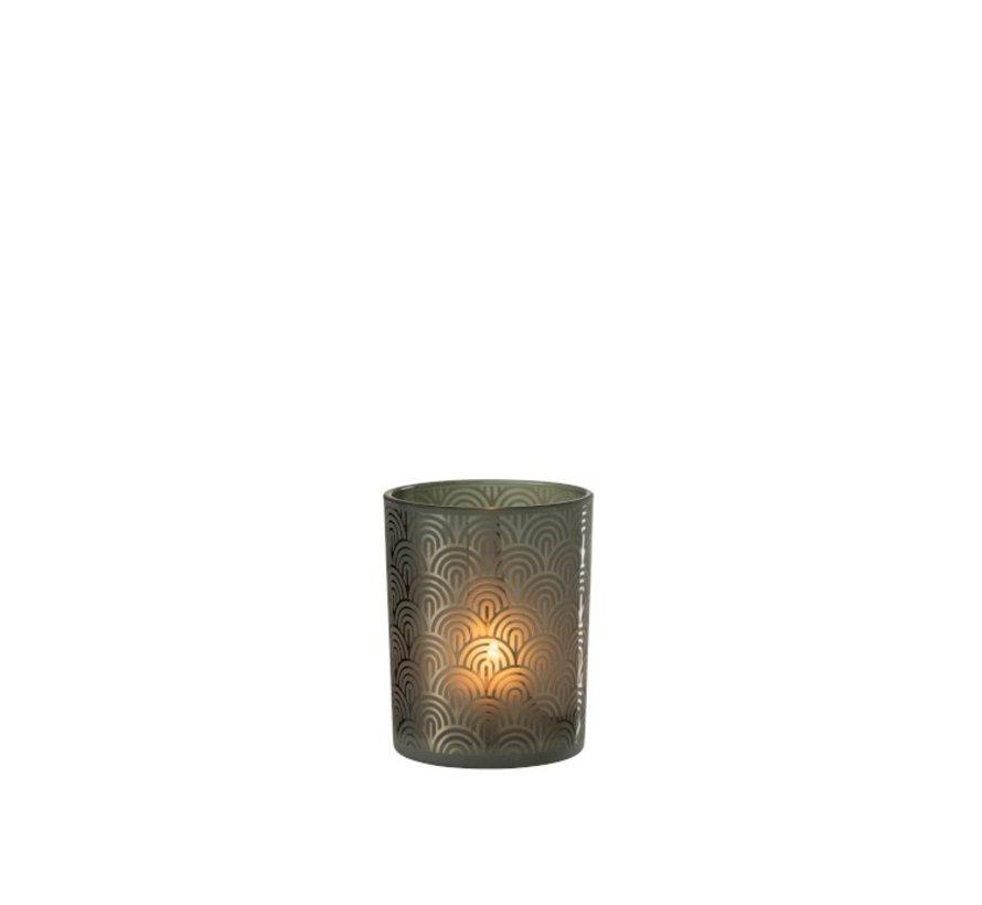 Tealight holder Glass Bogen Green - Medium