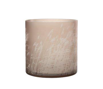 J-Line Tealight Holder Glass Cylinder Barley - Extra Large