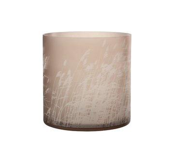 J -Line Theelichthouder Glas Cilinder Gerst  - Extra Large