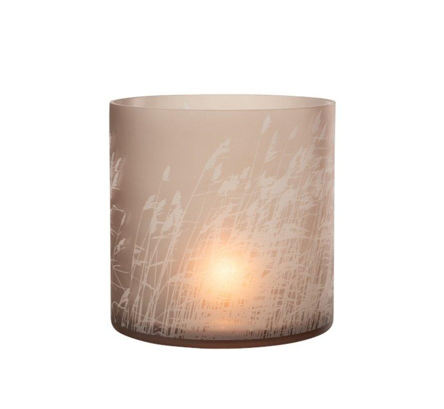 Tealight Holder Glass Cylinder Barley - Extra Large