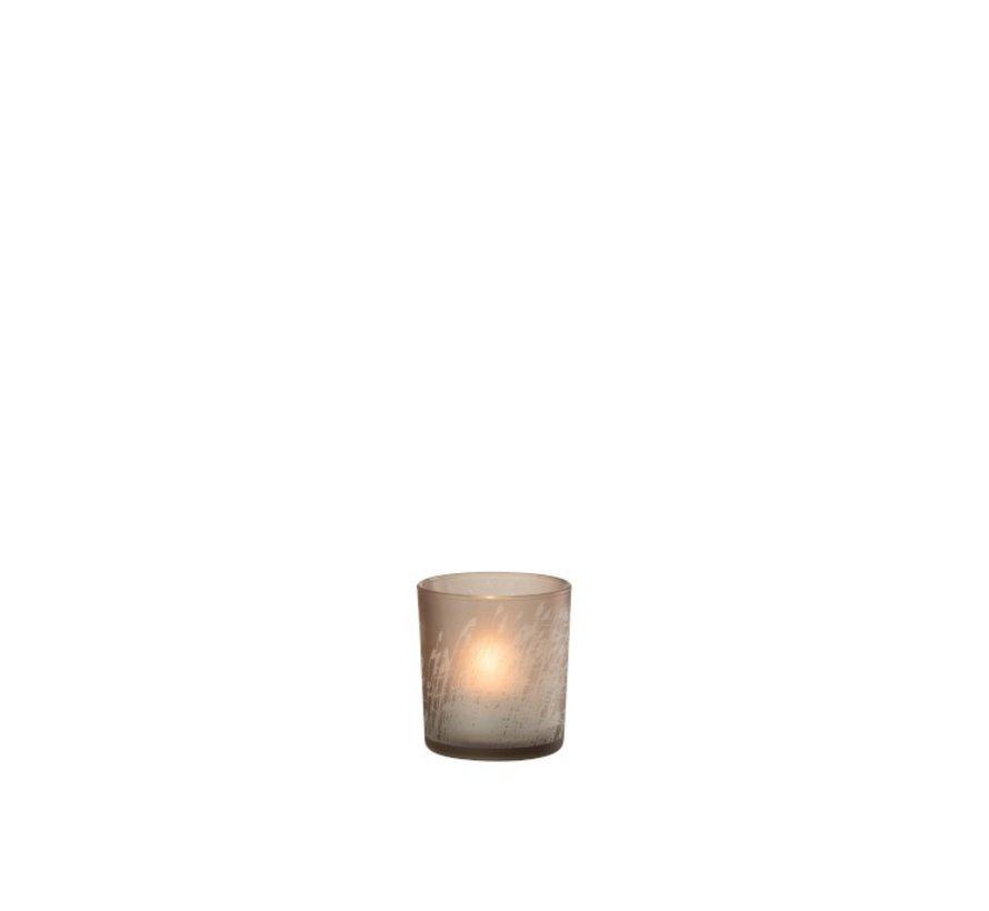 Tealight Holder Glass Cylinder Barley - Small