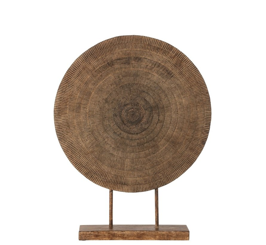 Decoration Circle On Foot Relief Abstract - Brown
