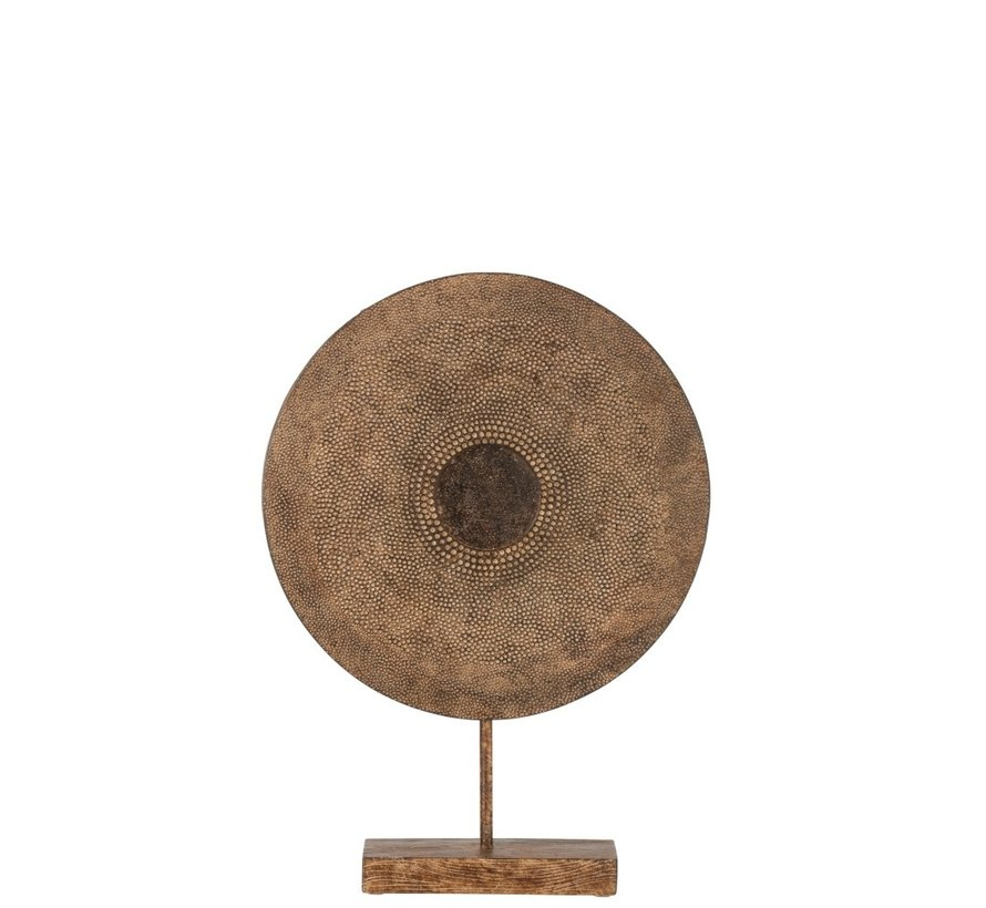 Decoration Circle On Foot Relief Abstract Brown - Medium