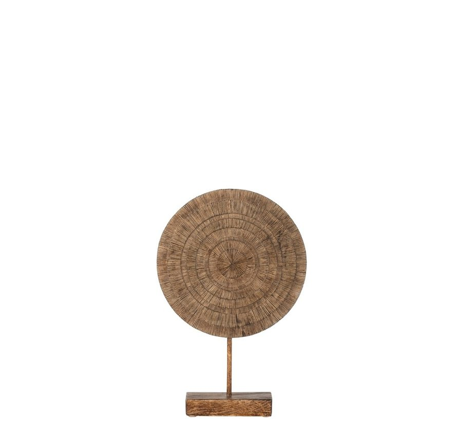 Decoration Circle On Foot Relief Abstract Brown - Small