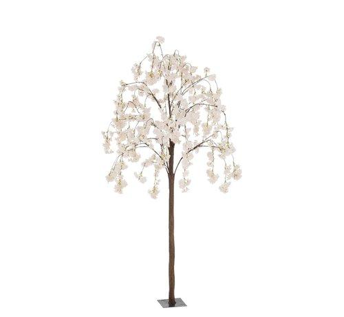 J -Line Artificial Tree Blossom Plastic Pink White - Small