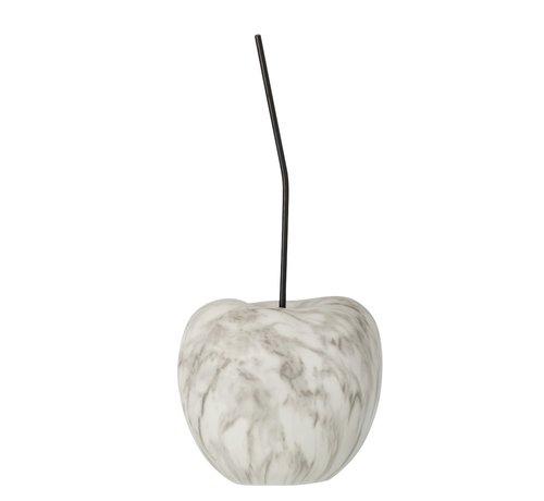 J-Line Decoration Cherry Marble Effect White Black - Large