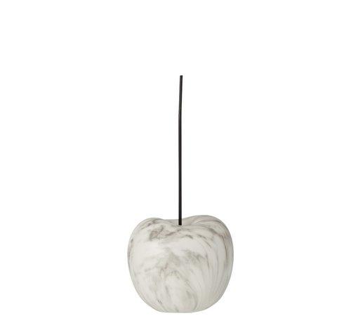 J-Line Decoratie Kers Marmer Effect Wit Zwart - Small