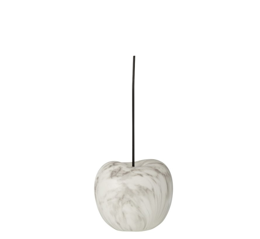 Decoration Cherry Marble Effect White Black - Small