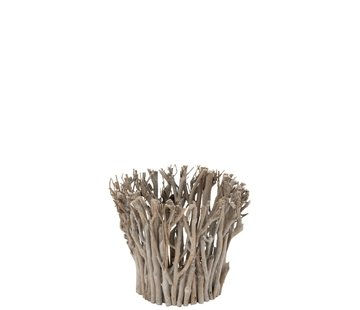 J -Line Tealight Holder Rural Branches Natural - Small