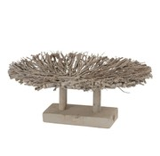 J -Line Plateau Rural Branches Natural Wood - Gray