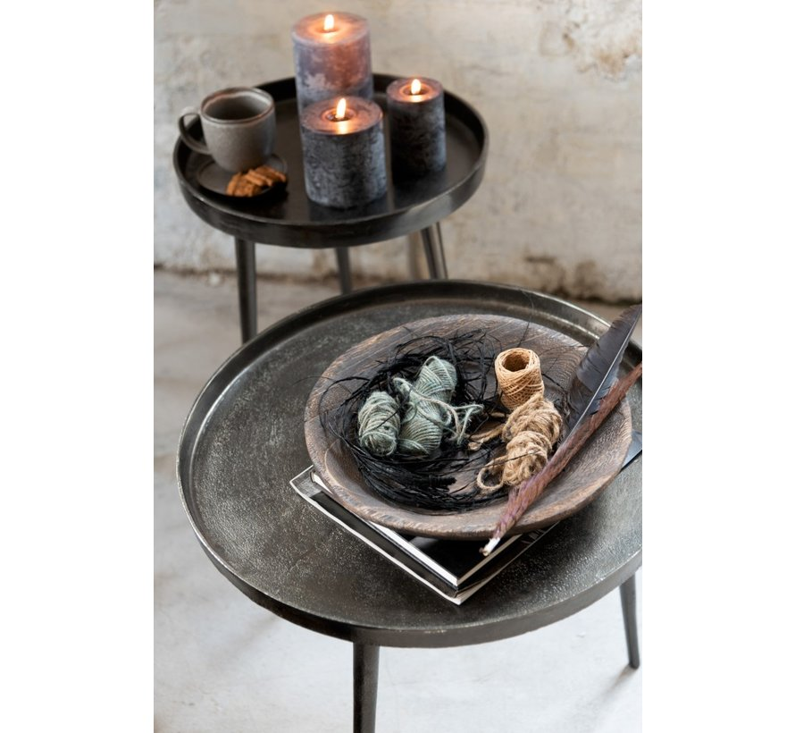 Side tables Round Plateau Wide Legs - Dark Gray