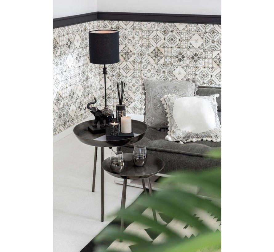 Side tables Round Plateau High Edge - Dark Gray