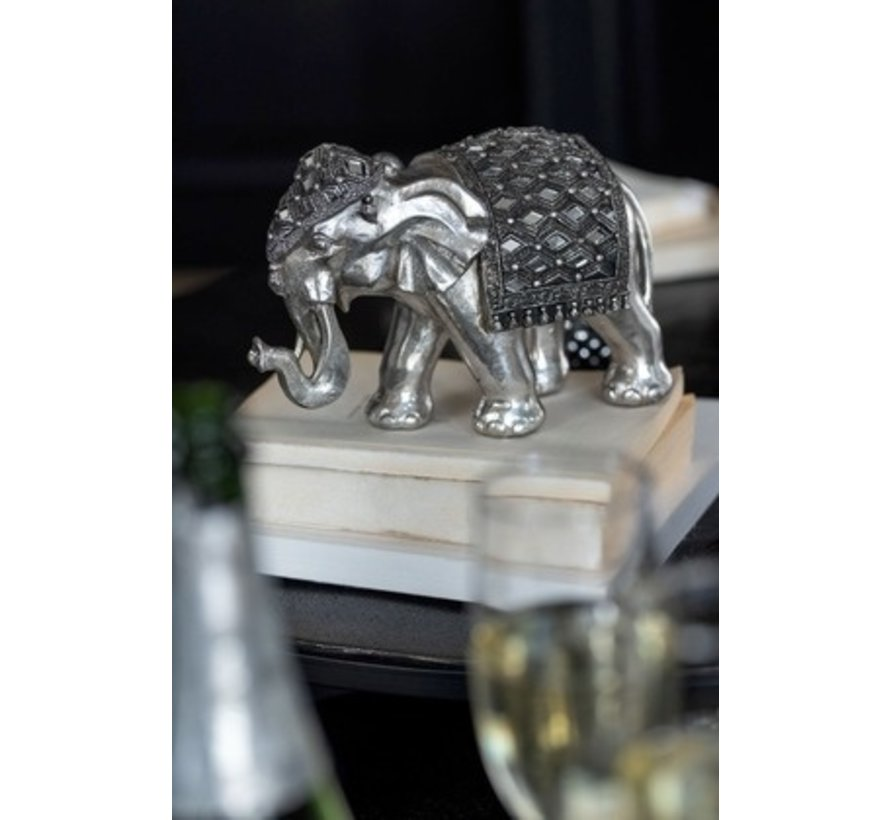 Decoration Sculpture Elephant Mirror Silver - Small