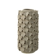 J -Line Vase Ceramic Shells Motif Gray - Large