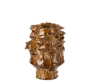 J -Line Vintage Ceramic Vase eddies Brown - Large