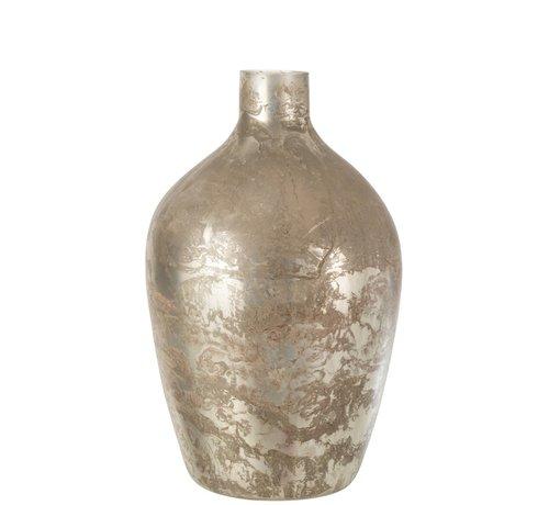 J -Line Bottles Vase Glass High Antique Gray - Large