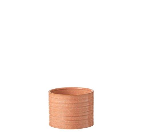 J -Line Flowerpot Ceramic Summer Grapefruit Color - Large
