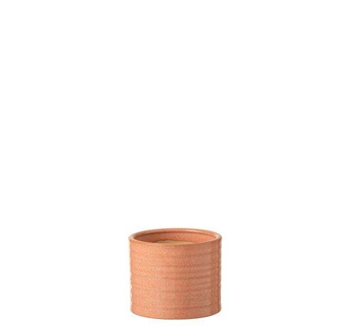 J -Line Flowerpot Ceramic Summer Grapefruit Color - Small