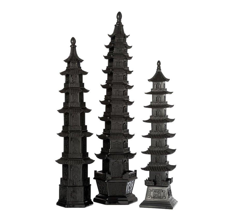 Decoratie Oosterse tempel Zwart - Large
