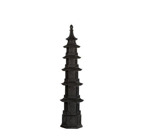 J -Line Decoratie Oosterse tempel Zwart - Small