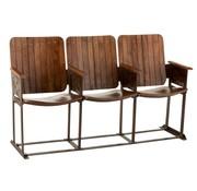 J -Line Vintage Sofa Three Seater Mango Wood - Brown