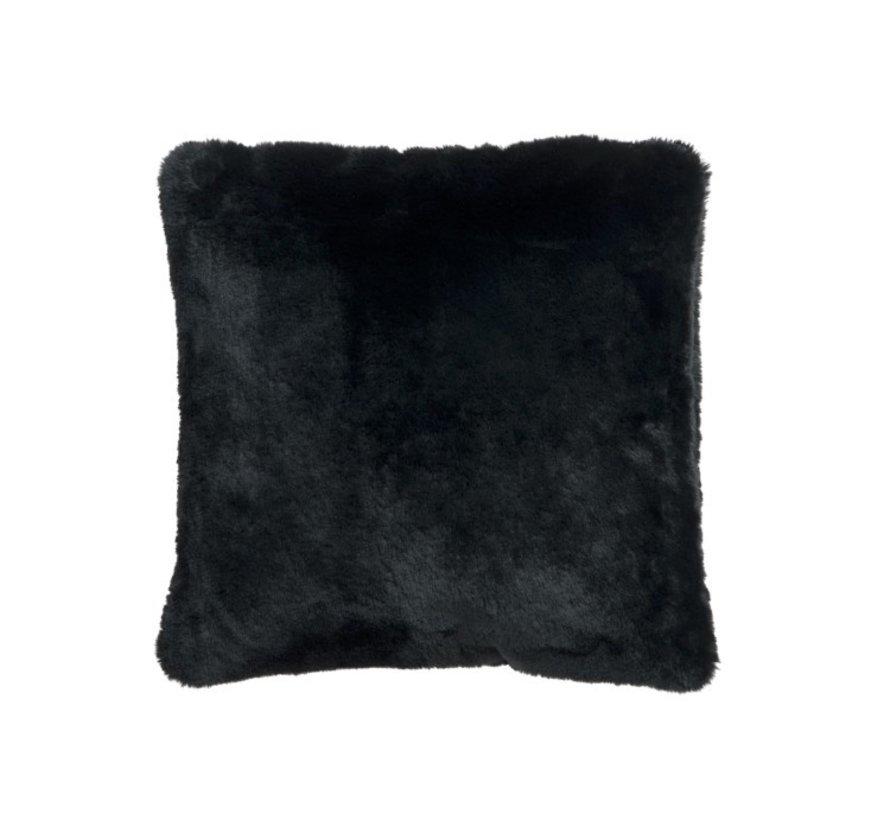 Kussen Vierkant Pluche Extra Zacht - Zwart