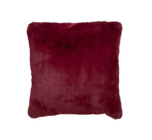 J-Line Cushion Square Plush Extra Soft - Red