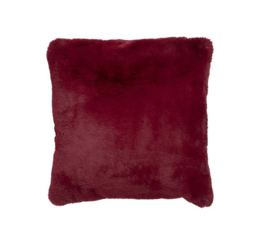 Cushion Square Plush Extra Soft - Red