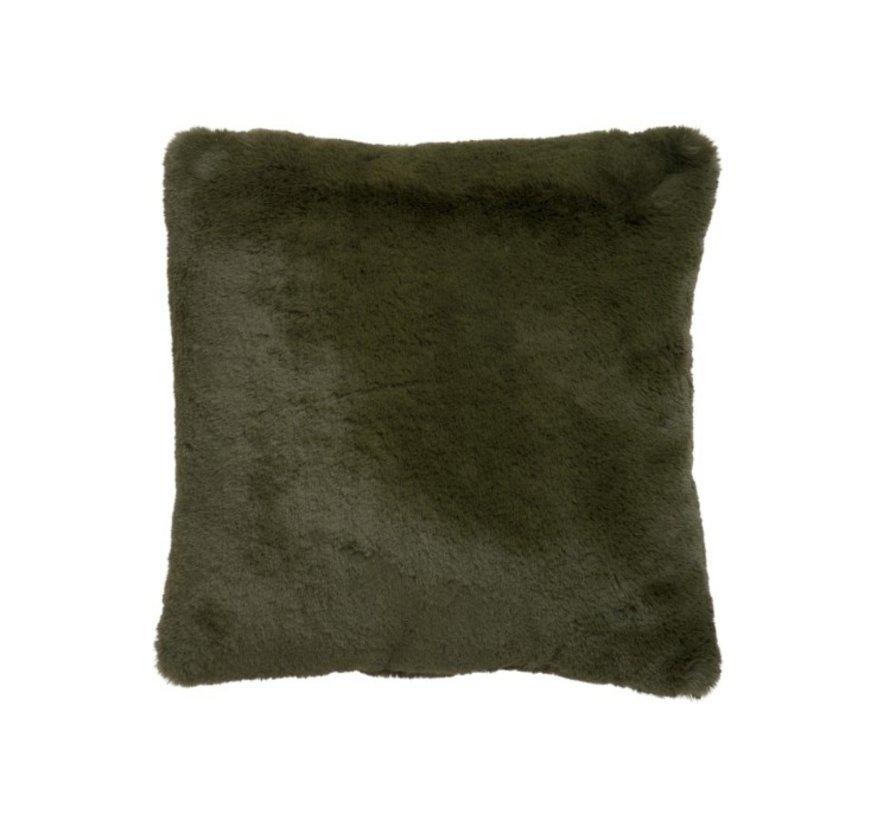 Cushion Square Plush Extra Soft - Khaki