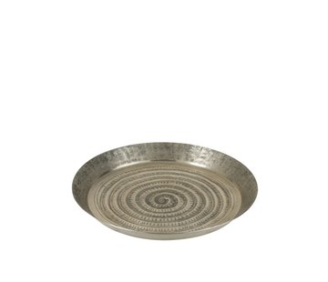 J -Line Decorative Tray Oriental Aluminum Gray - Small