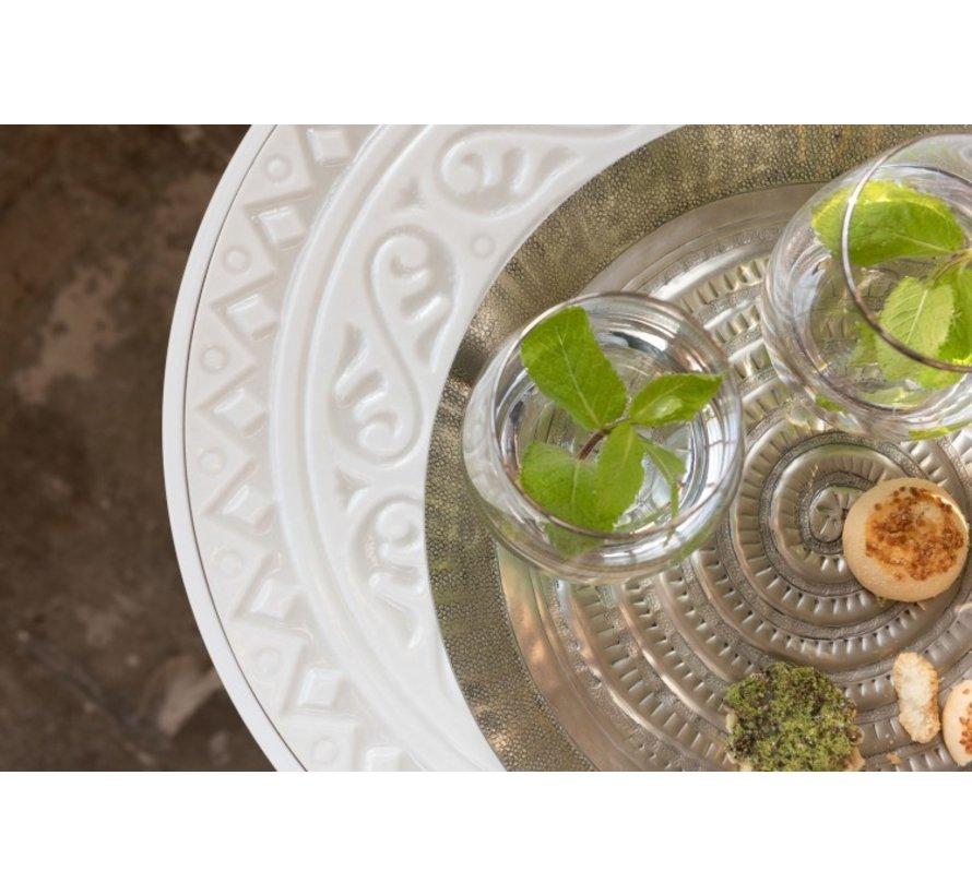 Decoratief Dienblad Oosters Aluminum Grijs - Small