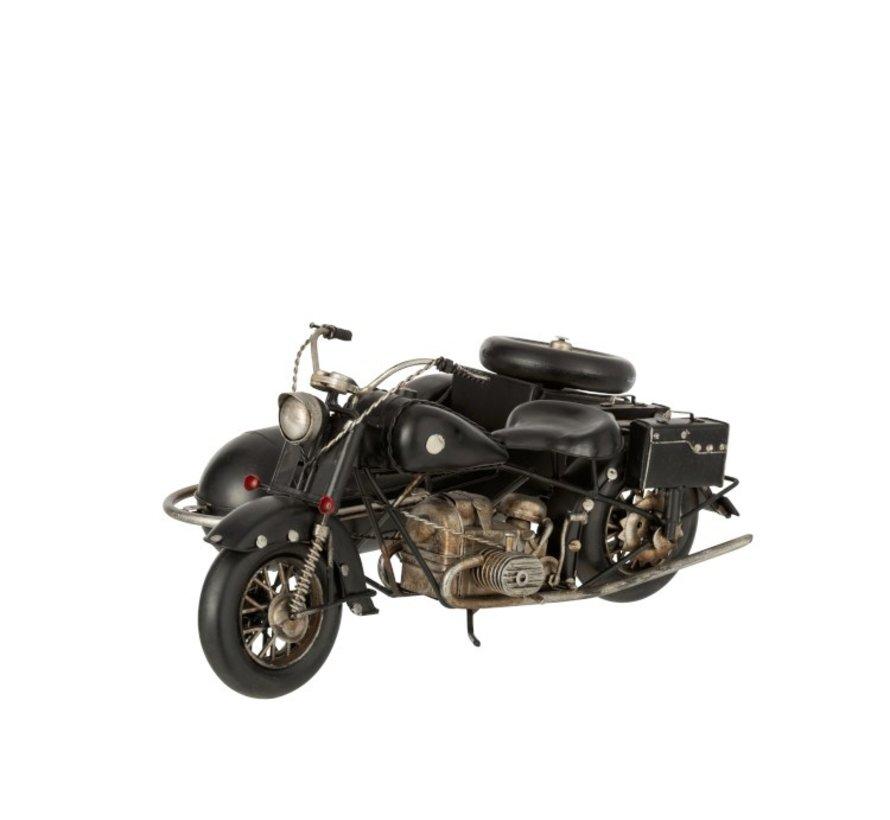 Decoratie Retro Motor Zijspan Metaal - Zwart