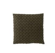J -Line Kussen Vierkant Geweven Polyester - Donkergroen