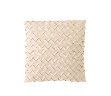 J -Line Cushion Square Woven Polyester - Beige