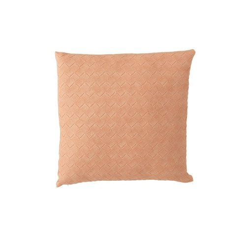 J -Line Cushion Square Woven Polyester - Salmon