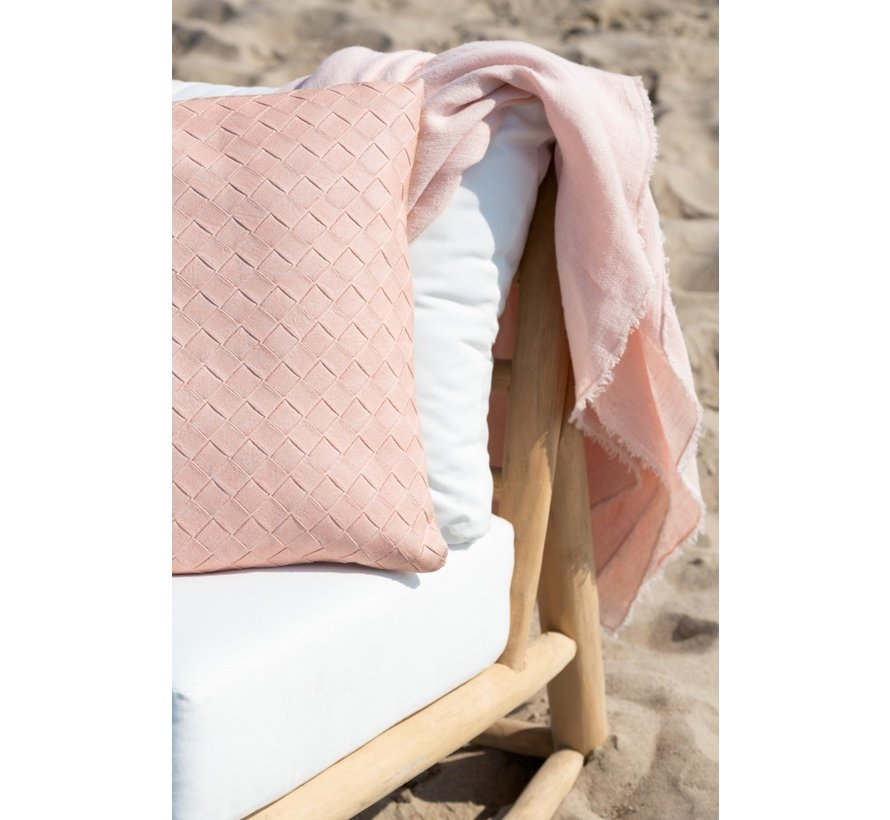 Cushion Square Woven Polyester - Salmon