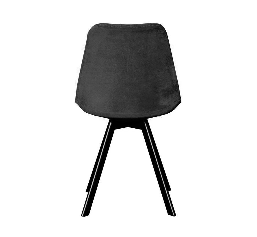 Bucket seat Velvet Diamond Pattern - Dark gray