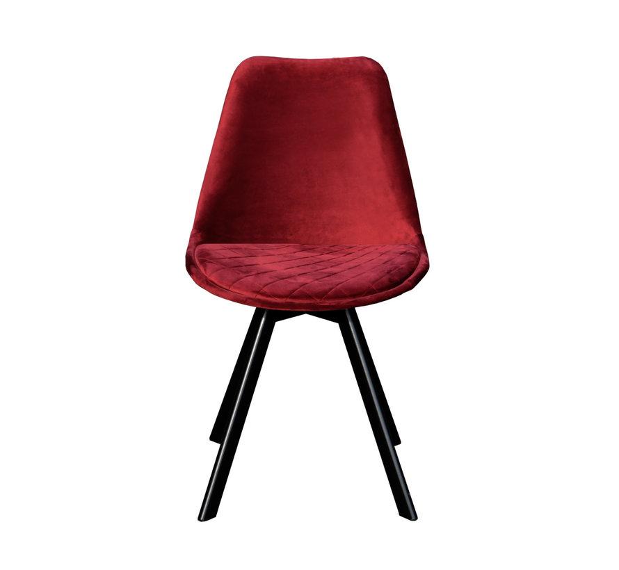 Bucket seat Velvet Diamond Pattern - Red