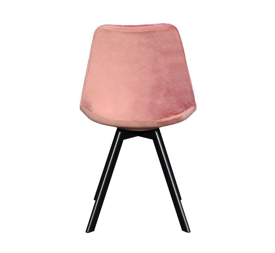 Bucket seat Velvet Diamond Pattern - Pink